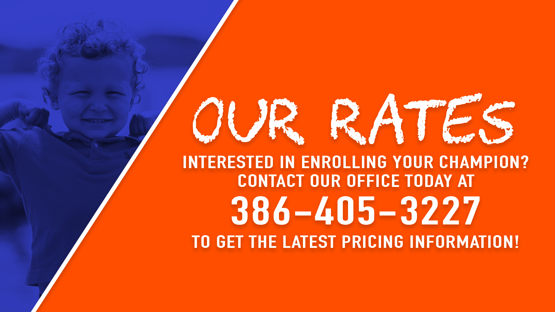 Our Rates >> Our Rates Champions Academy